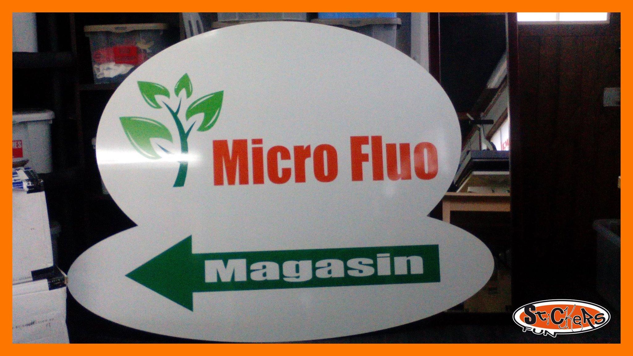 Stickers Fun - Panneau imprimé