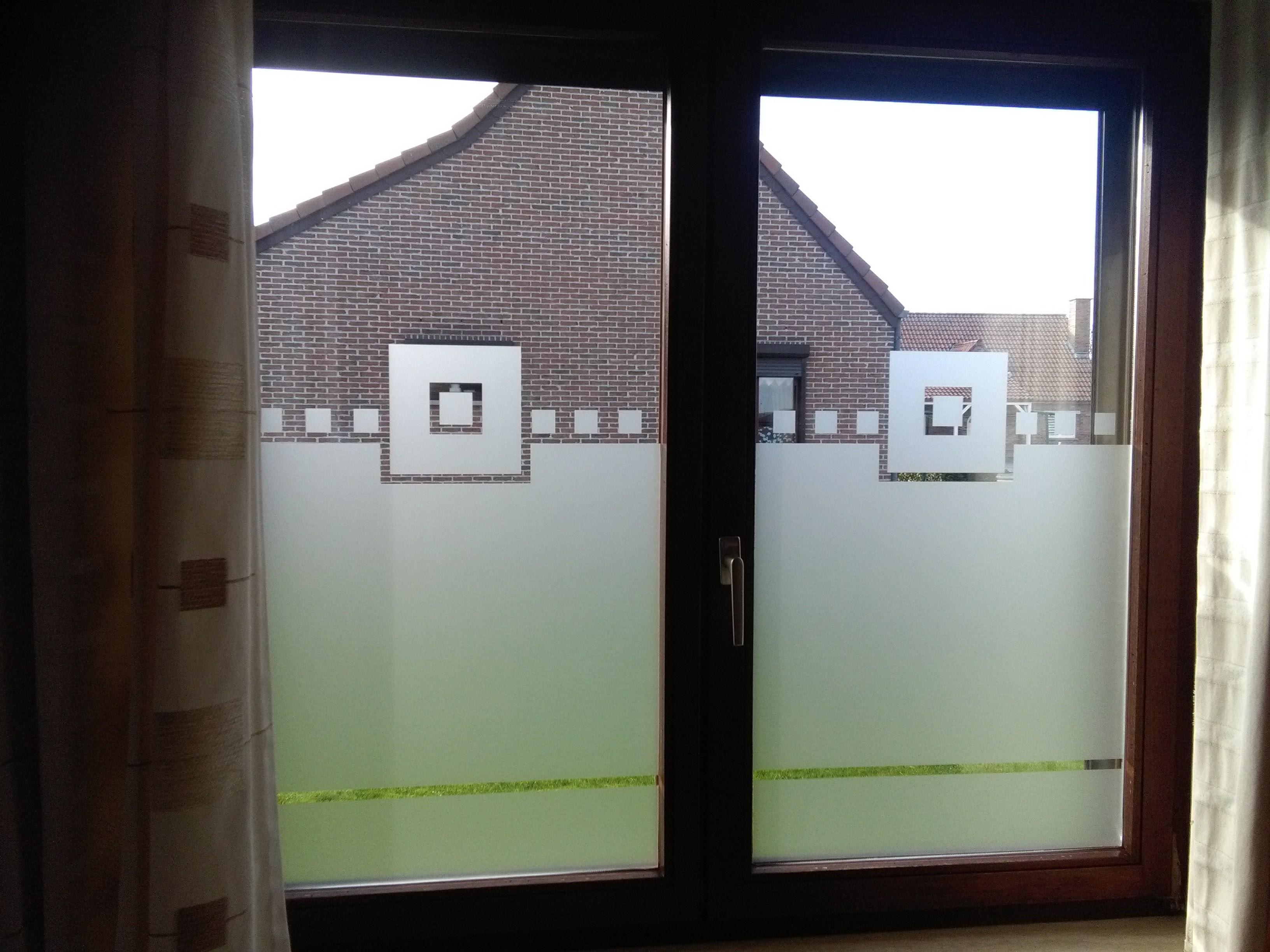 Sablage décoratif sur vitre