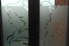 vitre sablée sur dour