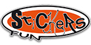 Stickers Fun - vitres sablées - Sablage de vitres - Stickers, bâches, panneaux publicitaires